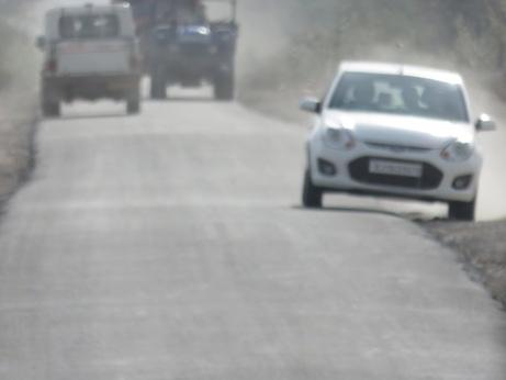 Driving in the Thar Desert