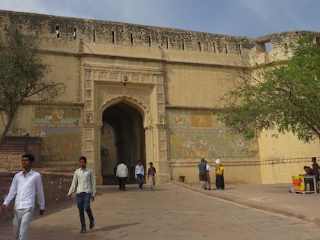 Entrance to Mehrangarh Fort