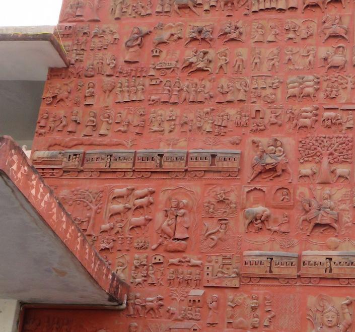 Facade of Udaipur railway station
