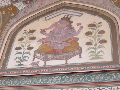 Detail of Ganesh Pol, Amber Fort