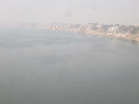 Crossing the Ganges into Varanasi