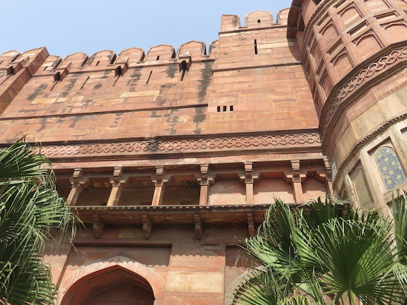 Base of Agra Fort