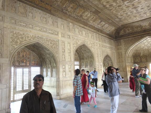 Interior of the Shah Burj, Agra Fort