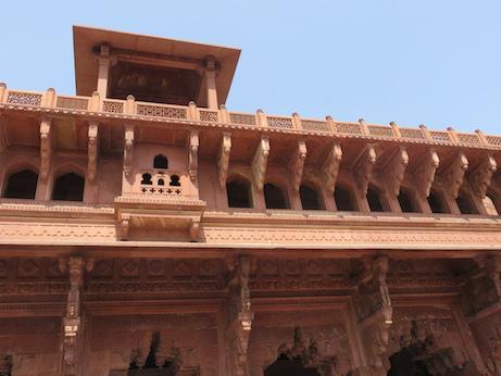 Jahangiri Mahal, facade on Court A, Agra Fort