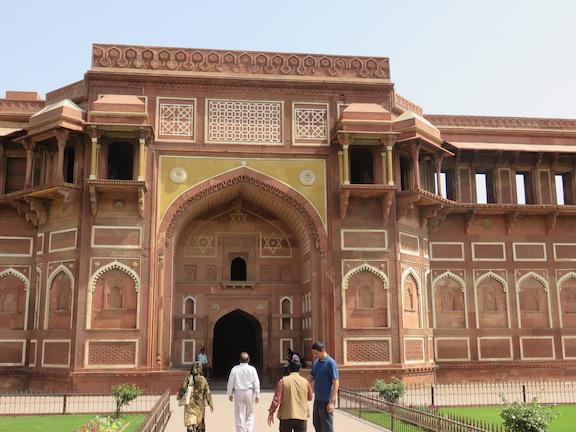Jahangiri Mahal, western facade, Agra Fort
