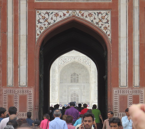 View of Mausoleum through Great Gate, Taj Mahal