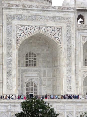 Detail of front, Taj Mahal