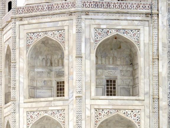 Detail of corner, Taj Mahal