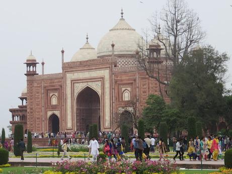 Assembly Hall from garden, Taj Mahal