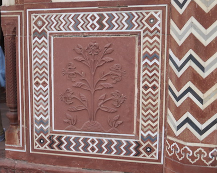 Stone carving and inlay, Assembly Hall, Taj Mahal