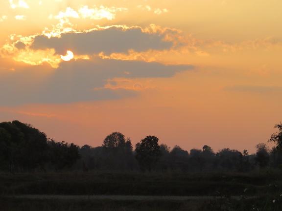 Sunset near the Baagh Resort