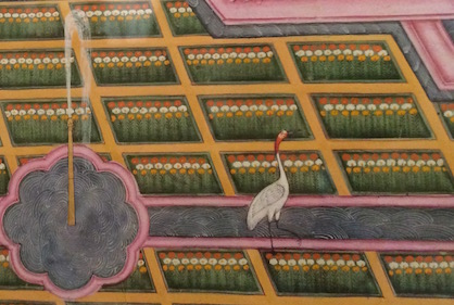 Detail of painting at Mehrangarh Fort