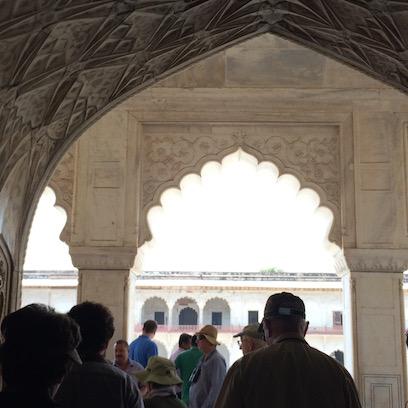Leaving the Shah Burj