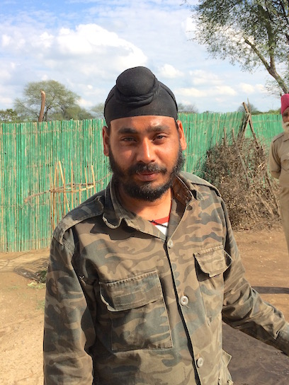 Our bicycle-rickshaw driver, Keoladeo National Park