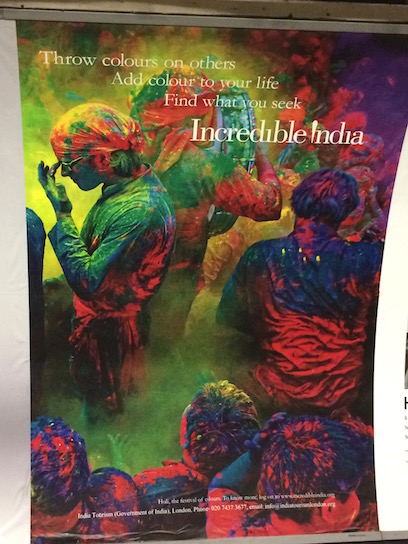 Holi poster from the London Tube