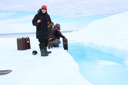 Mary at the iceberg