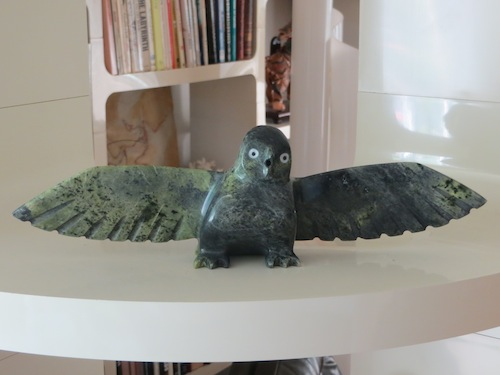 Inuit owl carving